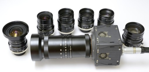 Kowa C-mount lenses, from 6mm to 75mm and 16-64mm Zoom